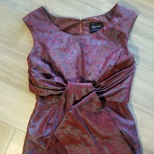 Peter Som iridescent red/purple dress